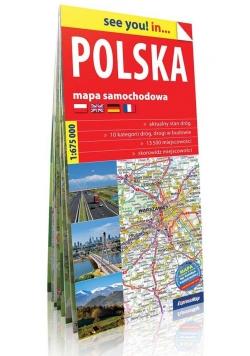 Polska see you! mapa samochodowa Polski