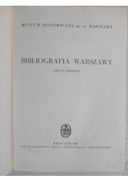 Durko Janusz (red.) - Bibliografia Warszawy. Druki zwarte