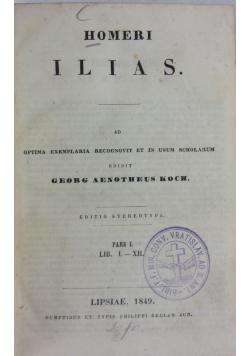 Homeri Ilias, 1849 r.