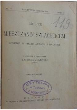 Mieszczanin szlachcicem, 1923 r.