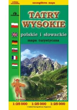 Tatry Wysokie polskie i słowackie mapa