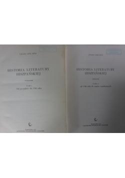 Historia literatury hiszpańskiej, zestaw 2 tomów