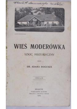Wieś Moderówka, 1905 r.