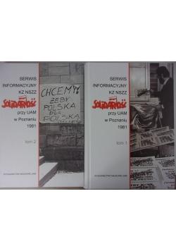 Serwis informacyjny KZ NSZZ Solidarność przy UAM w Poznaniu 1981, Tom 1 i 2