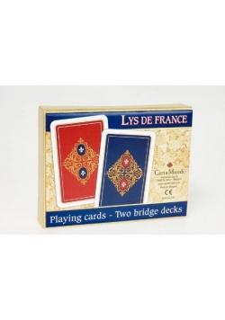 LYS DE FRANCE - komplet brydżowy 2x55 kart