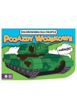 Kolorowanki dla chłopców.Pojazdy wojskowe