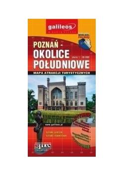 Mapa atrakcji tur.- Poznań i okolice poł. 1:50 000