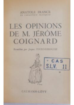 Les opinions de M. Jerome oignard, 1947