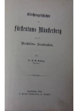 Rircengeschicte des furstentums munsterberg, 1885 r.