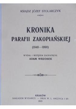 Kronika Parafii Zakopiańskiej, Reprint z 1915 r.