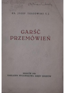 Garść przemówień, 1930 r.