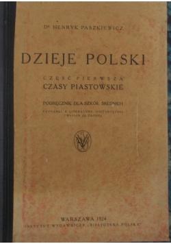 Dzieje Polski,  czasy Piastowskie, 1924 r.