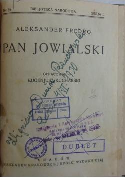 Pan Jowialski, 1920r.