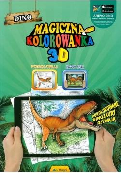 Magiczna kolorowanka 3D - Dinozaury