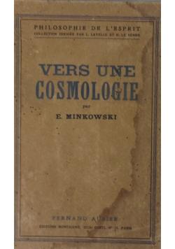 Vers une cosmologie  1933