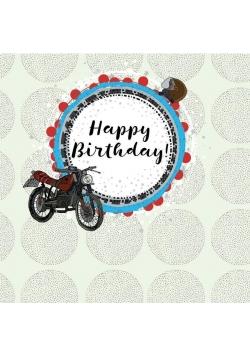 Karnet kwadrat CL0214 Urodziny motor