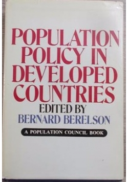 Population Policy in Developed Countries