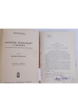 Rachunek Różniczkowy i całkowity, Tom I i II,1949 r,