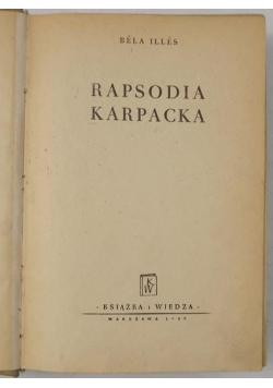 Rapsodia karpacka, 1950 r.