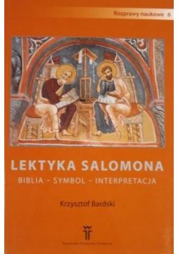 Lektyka Salomona. Biblia, symbol, interpretacja