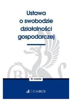 Ustawa o swobodzie działalności gospodarczej w.25