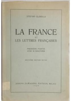 Glixelli Stefan - La France et les lettres francaises, 1929 r.