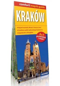 Kraków 2w1 przewodnik i mapa + mapa Polski