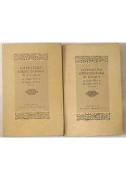 Literatura mieszczańska w Polsce od końca XVI w. do końca XVII w., tom I - II