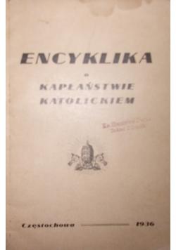 Encyklika o kapłaństwie katolickiem, 1936r.