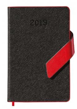 Kalendarz 2019 książkowy A6 czarny mag. EASY