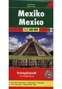 Meksyk mapa samochodowa 1:1 500 000