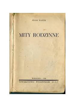Mity Rodzinne, 1938r.