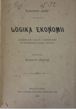 Logika ekonomii, 1896 r.