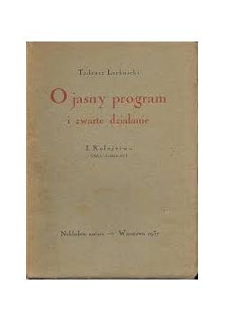 O jasny program i zwarte działania, 1937r.