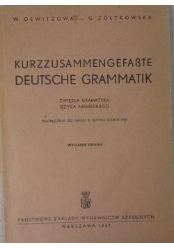 Zwięzła gramatyka języka niemieckiego, 1947 r.