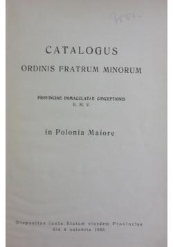 Catalogus ordinis fratrum minorum, 1930 r.
