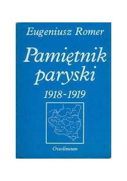 Pamiętnik paryski 1918 - 1919