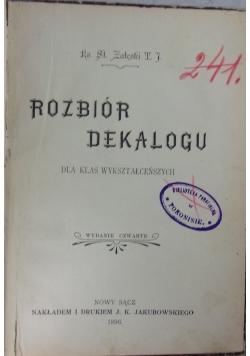 Rozbiór Dekalogu, 1896r.