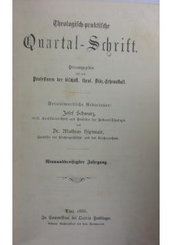 Theologisch praktische Quartalschrift, 1886r.