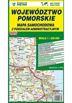 Województwo Pomorskie 1:220 000 mapa samochodowa