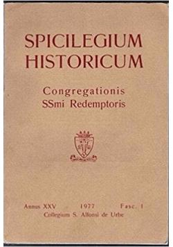 Spicilegium historicum