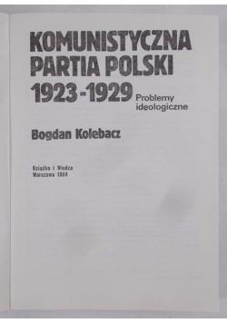 Komunistyczna Partia Polski 1923-1929