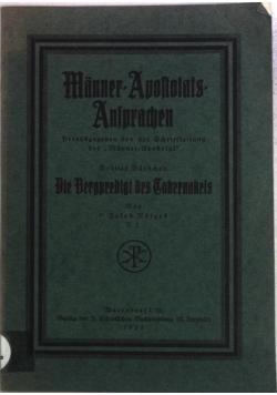 Manner-Apostolats-Ansprachen, 1925 r.