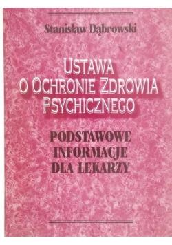 Ustawa o ochronie zdrowia psychicznego