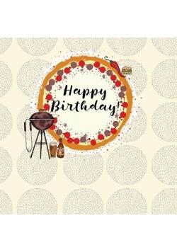 Karnet kwadrat CL0212 Urodziny Grill