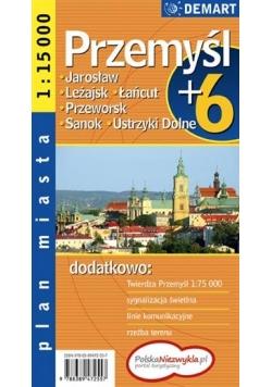 Plan miasta Przemyśl +6 1:15 000 DEMART