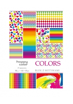 Blok A4/10 z motywami Colors HAPPY COLOR