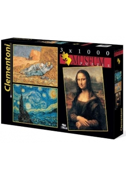 Puzzle 3x1000 Museum Collection