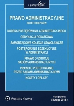 Prawo administracyjne. Zbiór przepisów