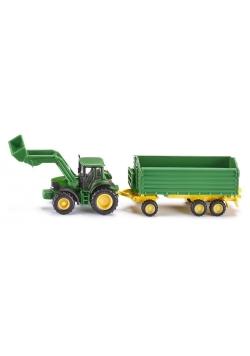 Siku Farmer - Traktor John Deere z przyczepą S1843